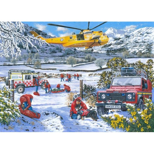 1000 Piece Jigsaw Puzzle - Mountain Rescue