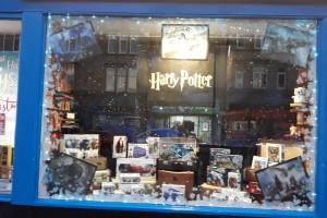 Harry Potter Christmas Window