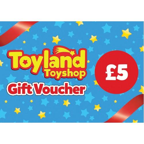 £5 Toyland Toyshop Gift Voucher