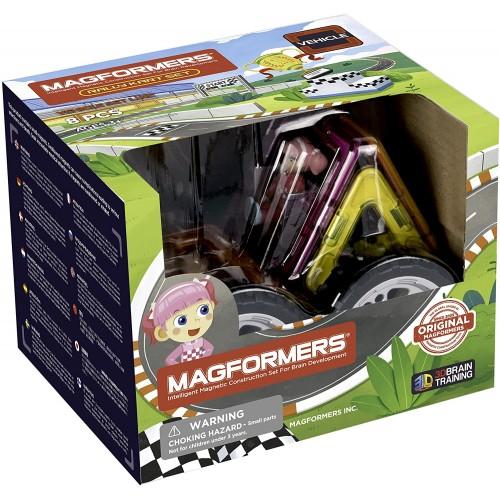 Magformers 707017 Rally Kart Girl racer Construction Set