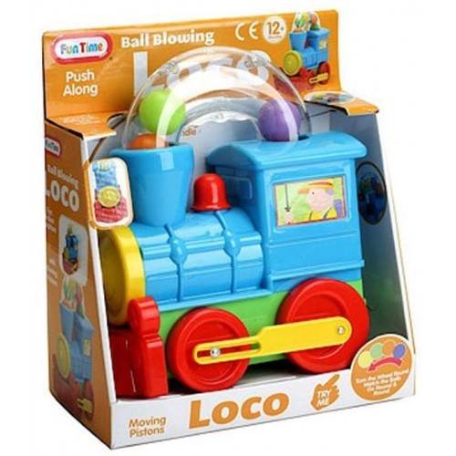 Funtime Pushalong Ball Blowing Loco