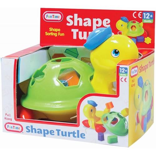 Fun Time Pull Along Shape Turtle