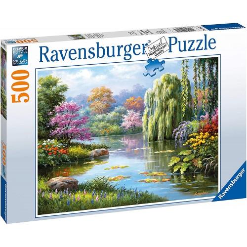 14827 Ravensburger Romantic Pond View 500pc Jigsaw Puzzle