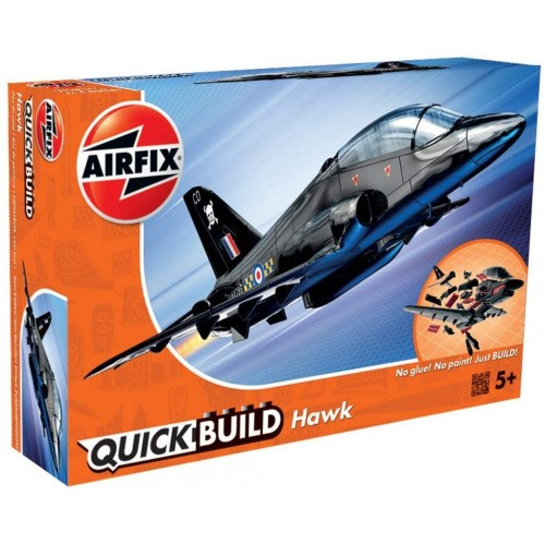 Airfix J6003 Quick Build BAe Hawk Aircraft Model Kit (Black)