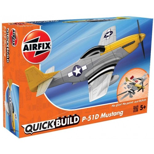 Airfix J6016 Quick Build Mustang P-51D Model Kit, Multicolor