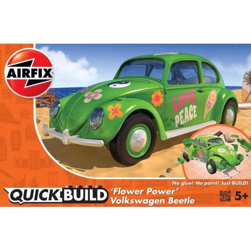 Airfix J6031 VW Beetle Flower-Power Model Kit, Green