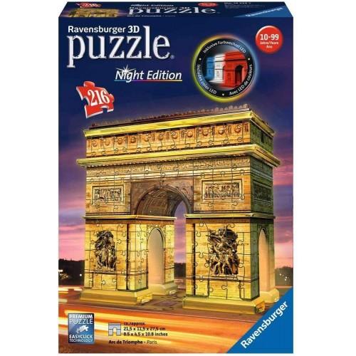 Ravensburger Arc De Triomphe - Night Edition, 216pc 3D Jigsaw Puzzle®