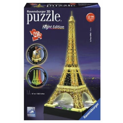 Night Light up ed - Eiffel Tower - 216 Pieces - 12579